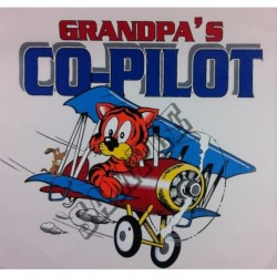 "T-shirt ""Grandpa's Co-Pilot"""