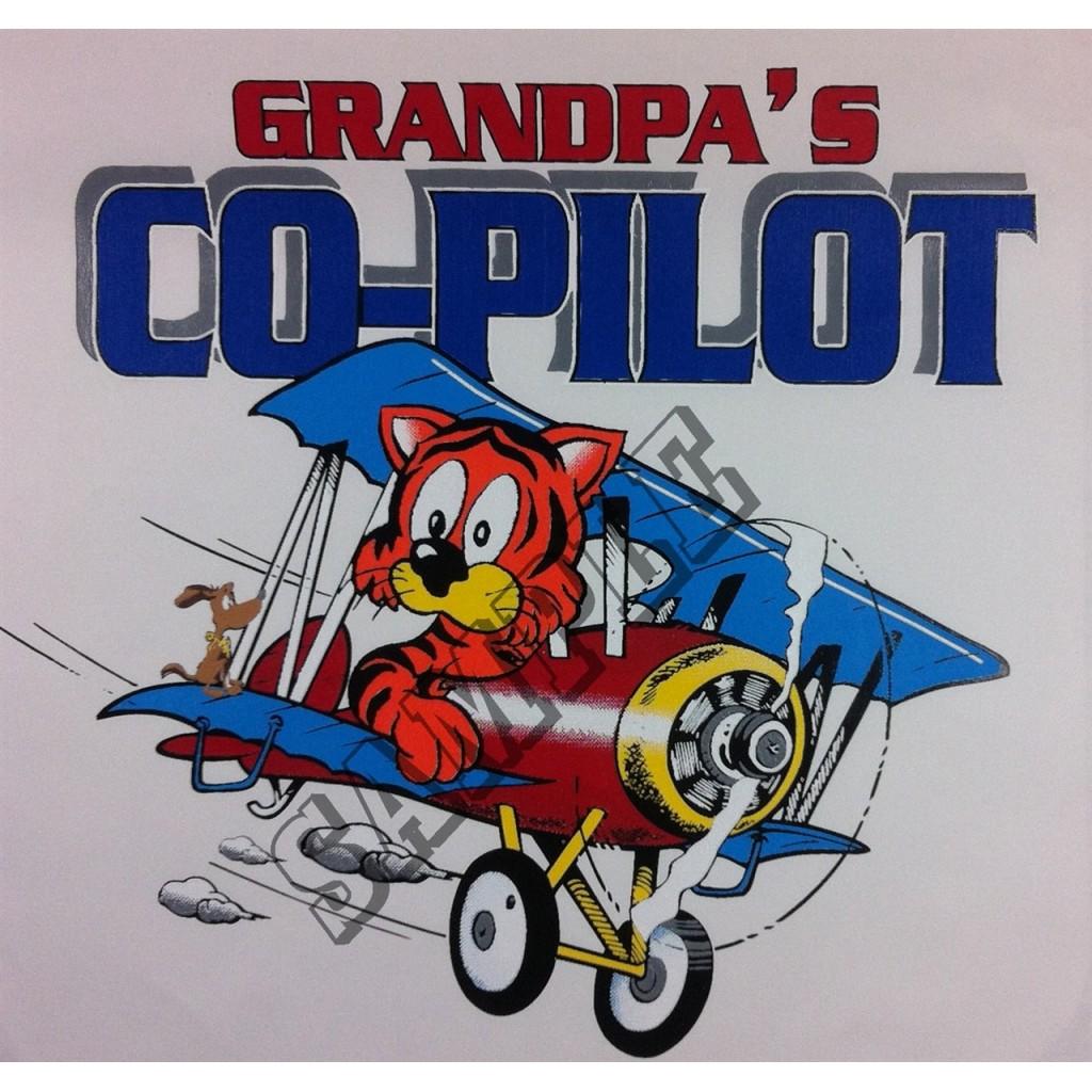 """T-shirt """"Grandpa's Co-Pilot"""""""