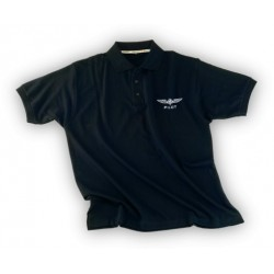 Polo Design4Pilots blu