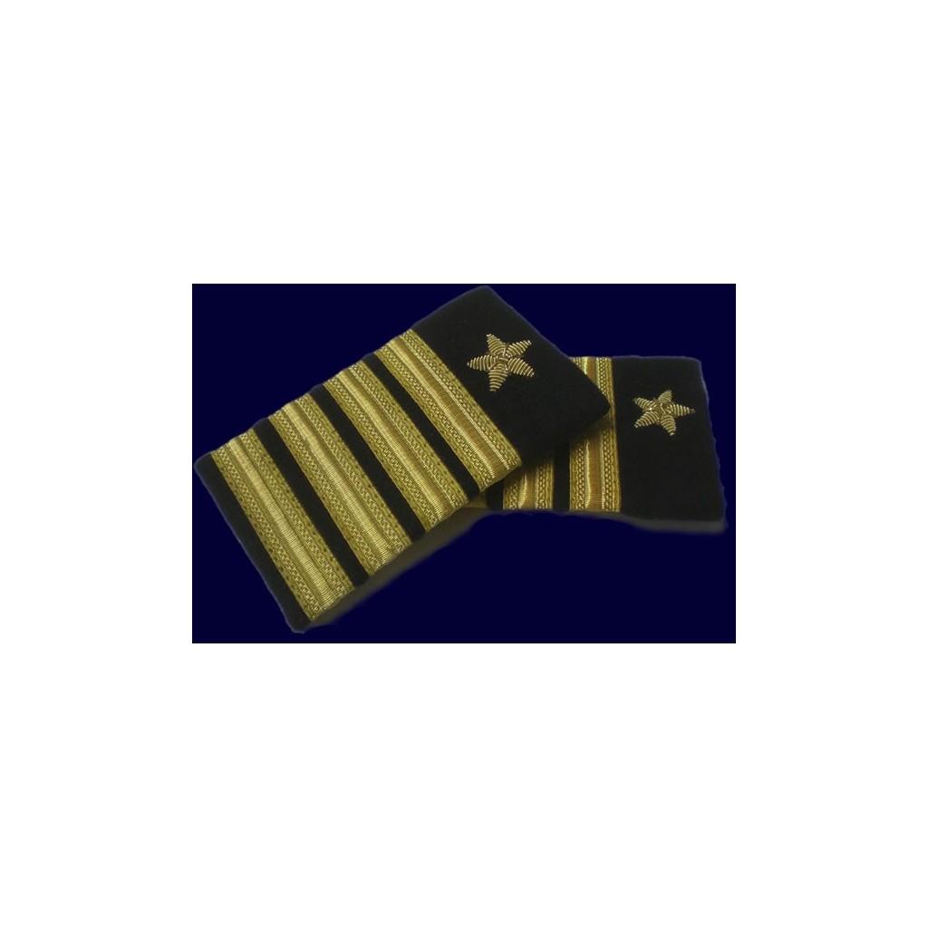 Coppia tubolari (gradi pilota) camicia 4 strisce+stella ORO