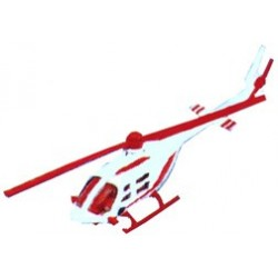 Modellino elicottero rosso