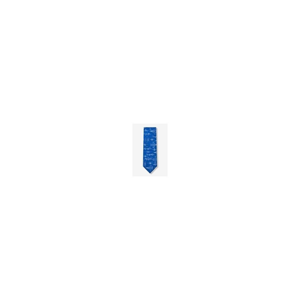 Cravatta Jets militari azzurra