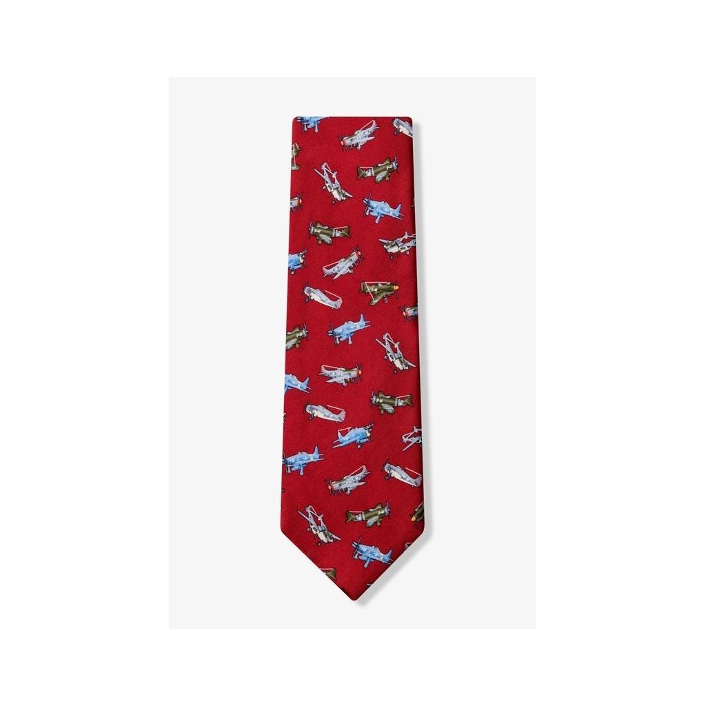 Cravatta aerei della II Guerra Mondiale (bordeaux)