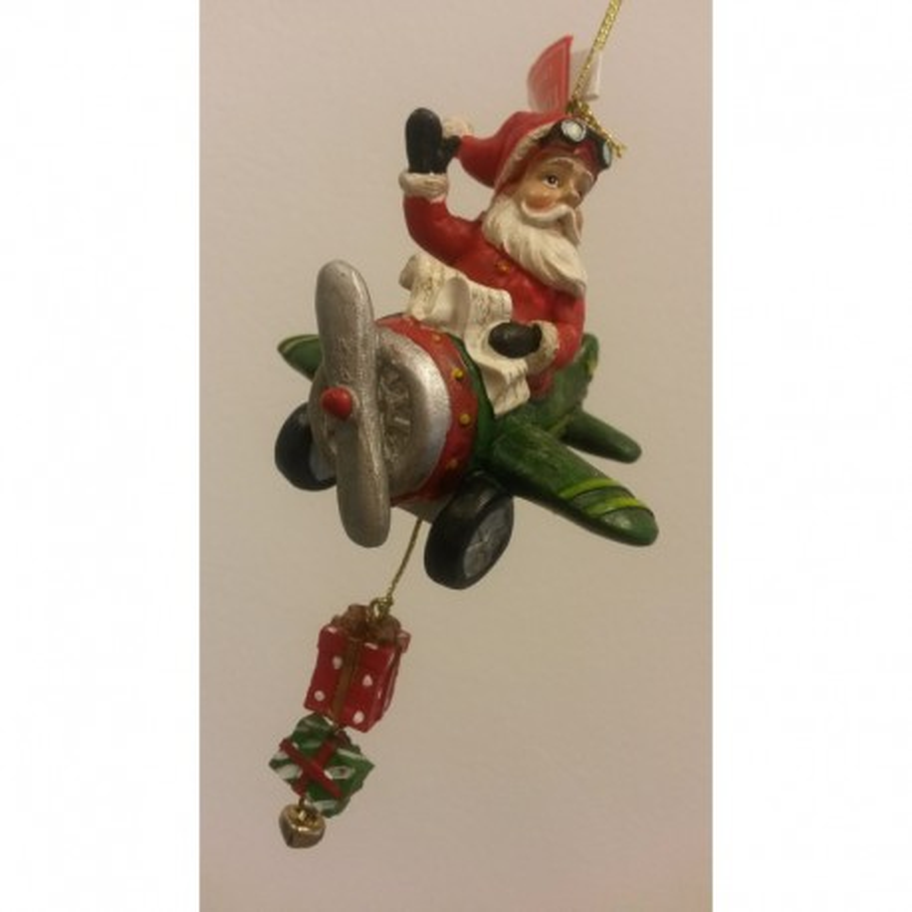 Babbo Natale in aereo verde (996294)