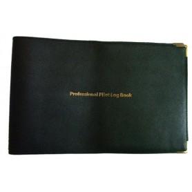 Porta libretto di volo in pelle nera per logbook JEPPESEN PROFESSIONAL