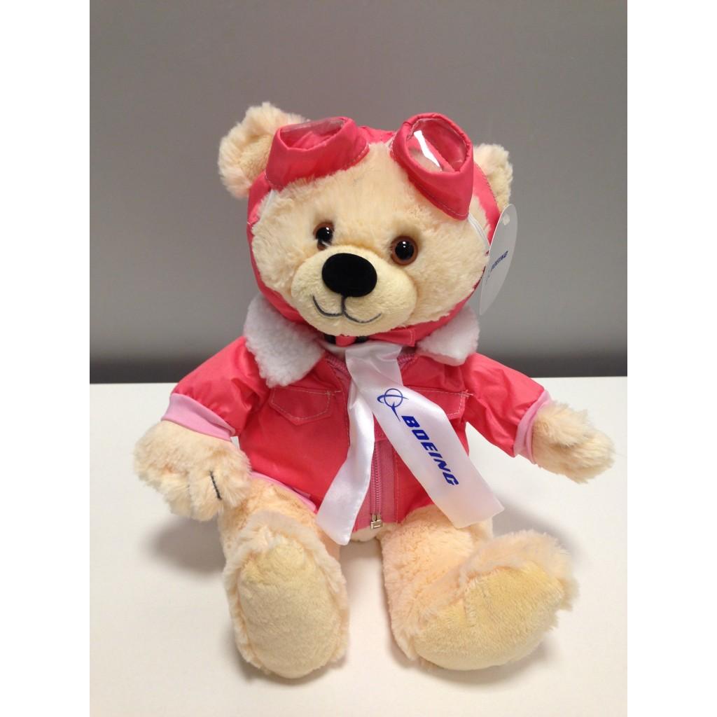 Peluche Teddy Aviator rosa grande