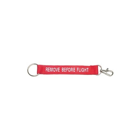 Portachiavi Remove Before Flight con moschettone