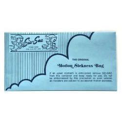 Sic Sac sacchetto per il mal d'aria - The Original Motion Sickness Bag
