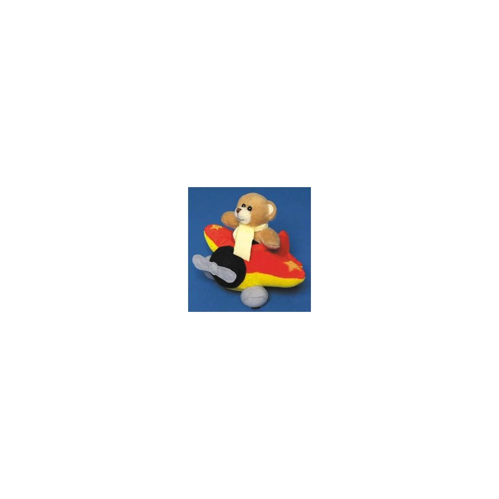 Peluche orsetto su aereo