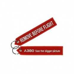 "Portachiavi Airbus A380 ""REMOVE BEFORE FLIGHT"""