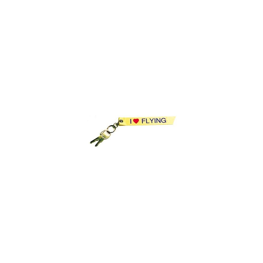 Portachiavi stoffa I LOVE Flying