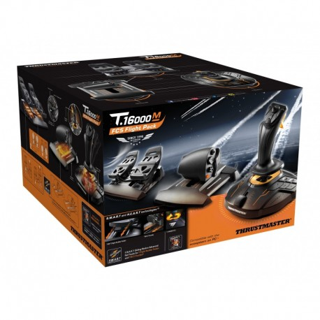 T.16000M FCS FLIGHT PACK: Joystick, Manetta e Timone a pedali per PC