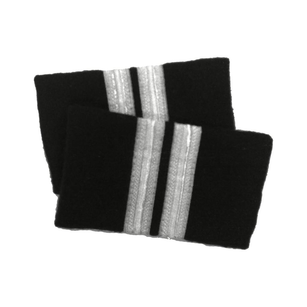 Coppia tubolari (gradi pilota) camicia 2 strisce ARGENTO