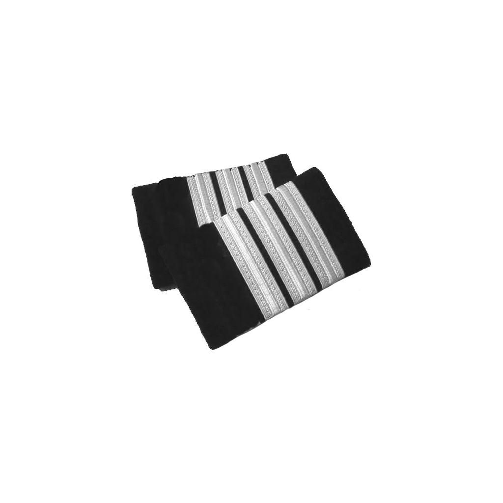 Coppia tubolari (gradi pilota) camicia 3 strisce ARGENTO