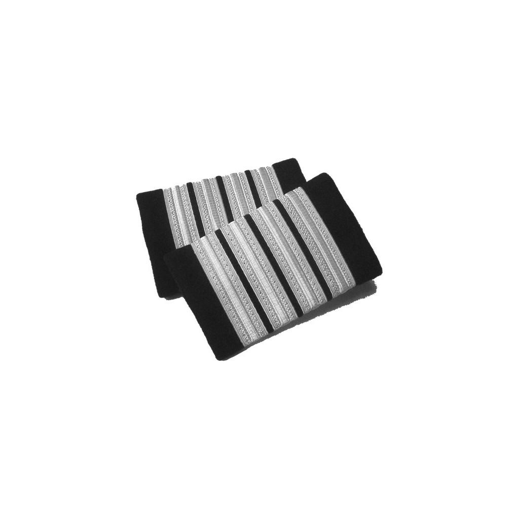 Coppia tubolari (gradi pilota) camicia 4 strisce ARGENTO