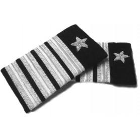 Coppia tubolari (gradi pilota) camicia 4 strisce+stella ARGENTO