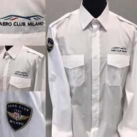 Camicia da pilota Aero Club Milano uomo manica lunga