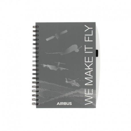 "Quaderno con spirale "" WE MAKE IT FLY"" Airbus"