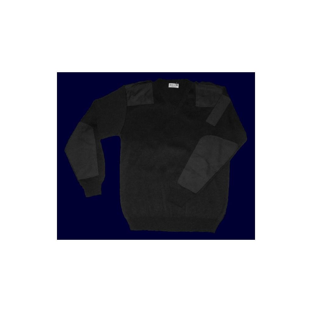 Pullover nero con spalline