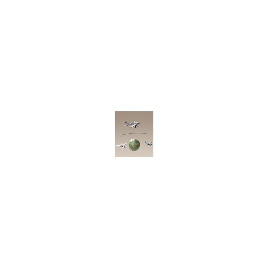 AP 124 mappamondo con aerei