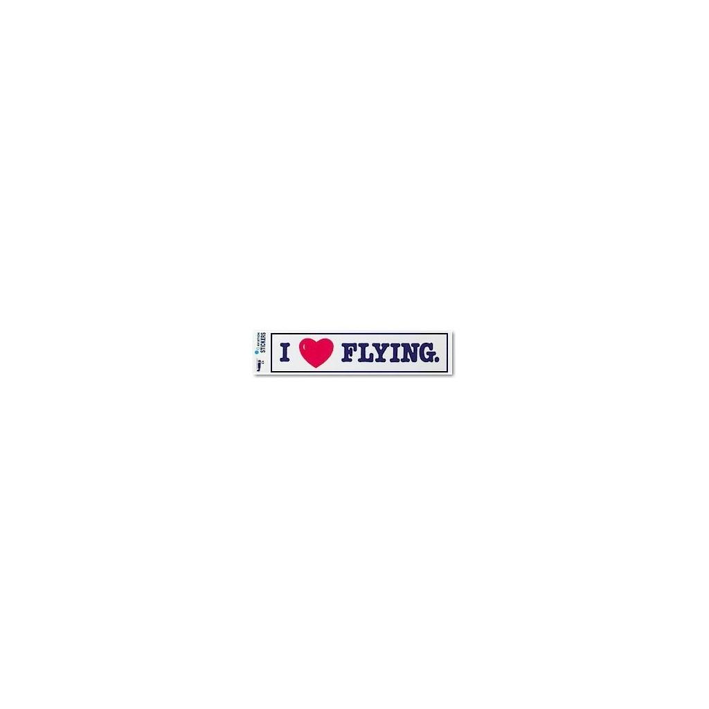 """Adesivo """"I LOVE FLYING"""