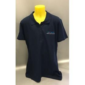 Polo manica corta blu da donna Aero Club Milano
