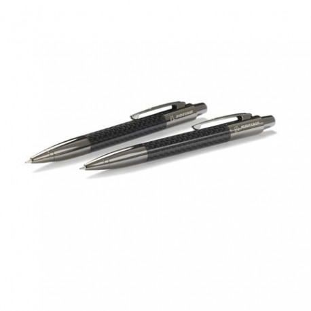 """Set Penna e matita """"fibra di carbonio"""" Boeing"""