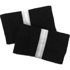 Coppia tubolari (gradi pilota) camicia 1 striscia ARGENTO