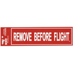 "Adesivo ""REMOVE BEFORE FLIGHT"""