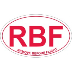 Adesivo REMOVE BEFORE FLIGHT ovale