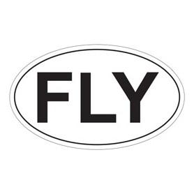 Adesivo FLY ovale