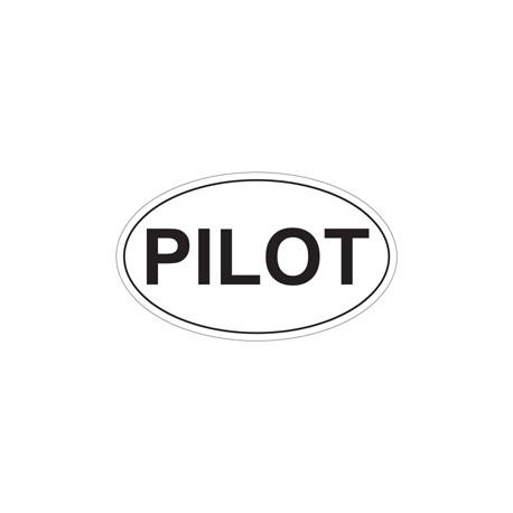 Adesivo PILOT ovale