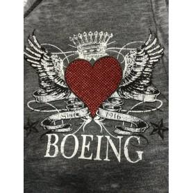 Felpa Donna con cappuccio Boeing melange