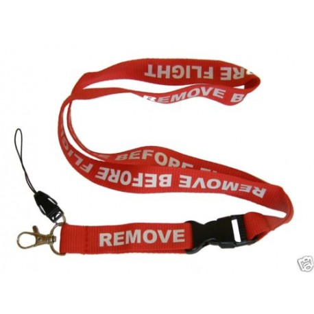 Laccio portachiavi e portabadge Remove Before Flight