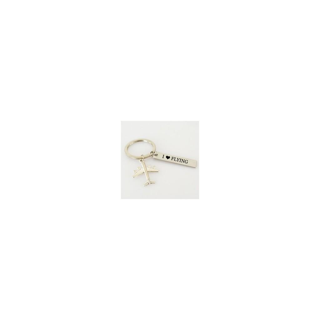 Portachiavi metallo I Love Flying