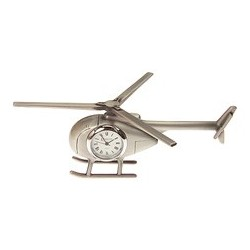 Helicopter Novelty Desk Top Clock