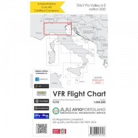 Carte Aeronautiche VFR Avioportolano edizione 2020 - LI-2 Pianura Padana