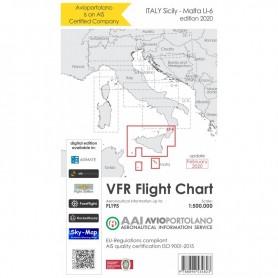 Carte Aeronautiche VFR Avioportolano edizione 2020 - LI-6 Sicilia