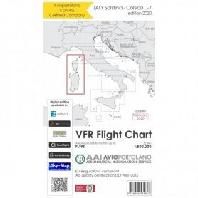 Carte Aeronautiche VFR Avioportolano edizione 2020- LI-7 Sardegna