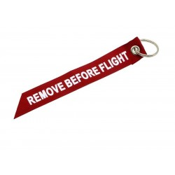 "Portachiavi in stoffa ""Remove Before Flight"""