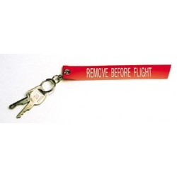 Portachiavi stoffa Remove Before Flight