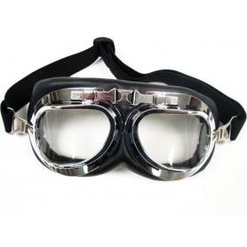 Maschera/Occhiali Aviatore cromato