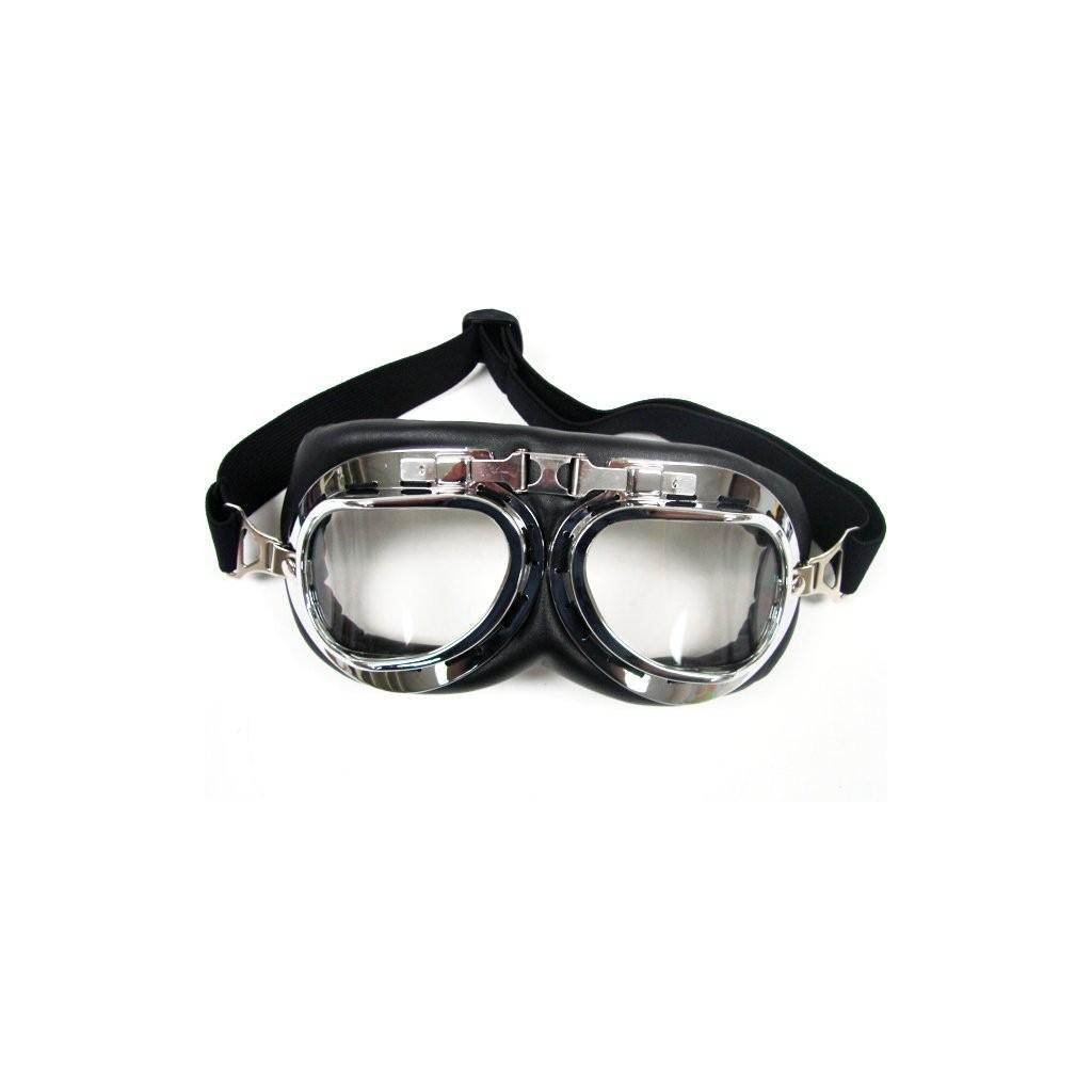 Maschera Occhiali Aviatore cromato