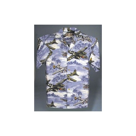 Lagoon Blue Hawaiian Shirt