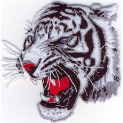 Tiger head grey-wh