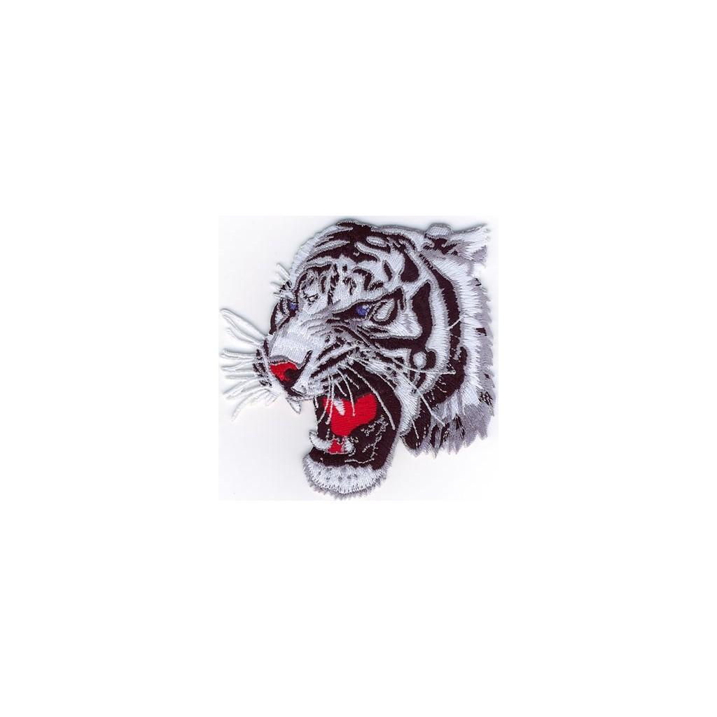 Tiger head grey-wh