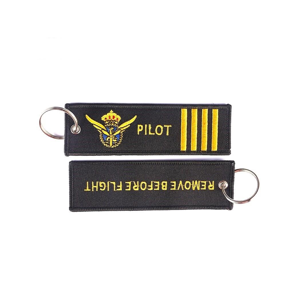 """Portachiavi nero """"RBF"""" - """"Pilot"""""""