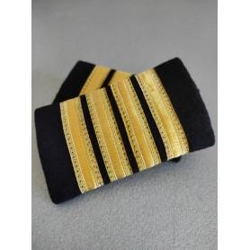 Coppia tubolari (gradi pilota) camicia 4 strisce ORO