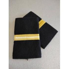 Coppia tubolari (gradi pilota) camicia 1 striscia ORO