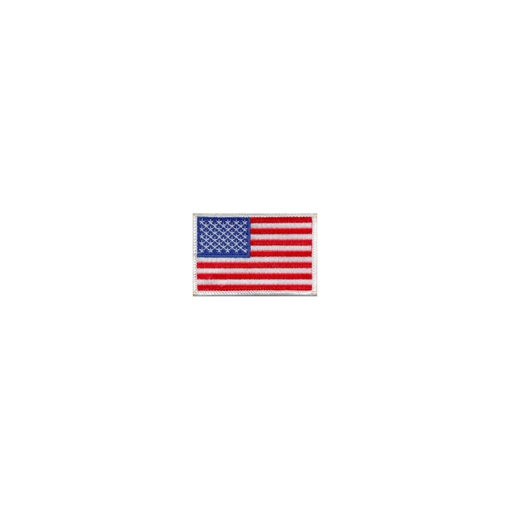 US flag small white border